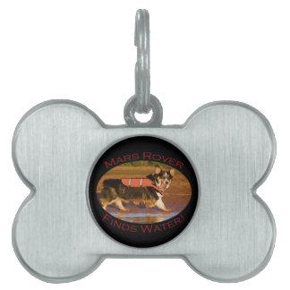 Marte Rover Placa Mascota