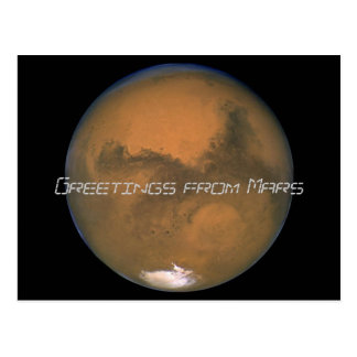 Marte, saludos de Marte Tarjeta Postal