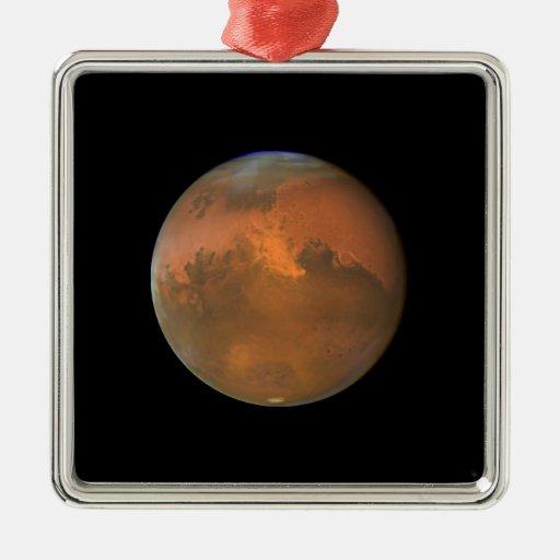 Marte (telescopio de Hubble) Adorno Navideño Cuadrado De Metal