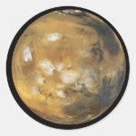 ¡Marte!  Una imagen hermosa del espacio.  NASA Etiqueta Redonda