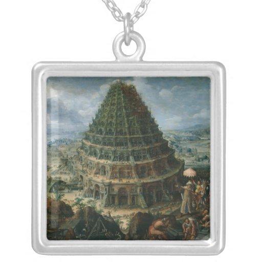 Marten van Valckenborch - la torre de Babel Colgante Personalizado