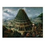 Marten van Valckenborch - la torre de Babel Postal