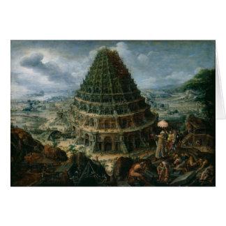 Marten van Valckenborch - The Tower of Babel Greeting Card