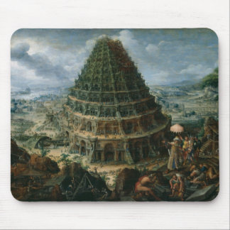 Marten van Valckenborch - The Tower of Babel Mouse Pad