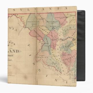 Martenet's Map of Maryland, Atlas Edition 3 Ring Binder