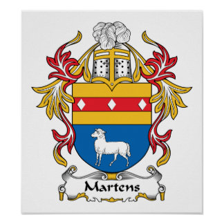 Martens Family Crest Posters