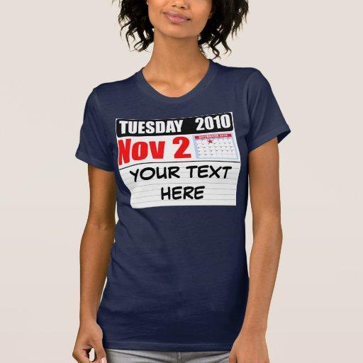 Martes 2 de noviembre de 2010 - personalizar camiseta