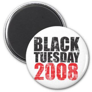 Martes negro 2008 imán redondo 5 cm