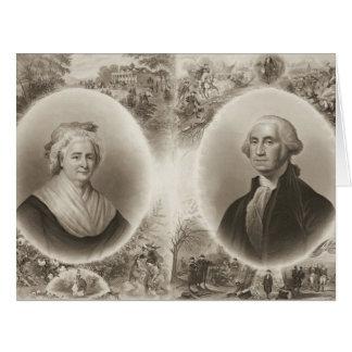 Martha and George Washington 1876 Card