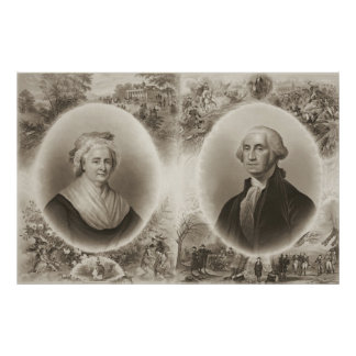 Martha and George Washington 1876 Poster