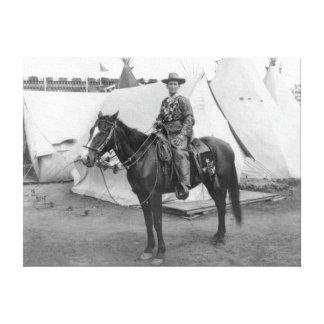 "Martha ""Calamity Jane amarillo"" a caballo Lona Envuelta Para Galerias"