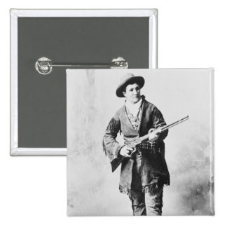 Martha Canary  c.1895 2 Inch Square Button