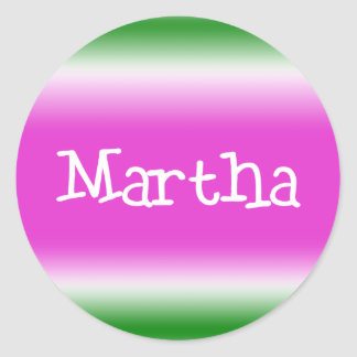 Martha Classic Round Sticker