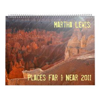 Martha de gran tamaño Lewis: Los lugares lejos y Calendarios De Pared