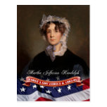 Martha Jefferson Randolph, primera señora de los Tarjeta Postal