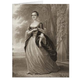 Martha joven Washington 1863 Tarjetón