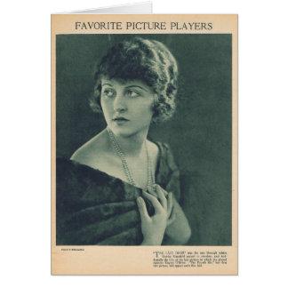 Martha Mansfield 1921 Card