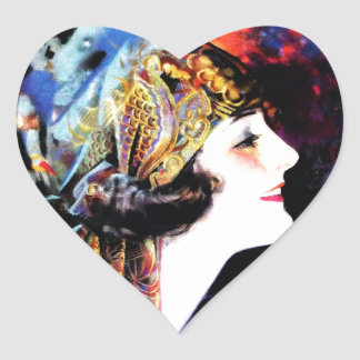 Martha Mansfield, a silent film legend Heart Sticker
