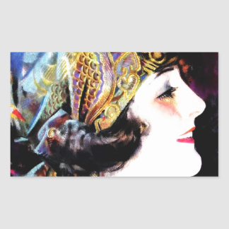 Martha Mansfield, a silent film legend Rectangular Sticker