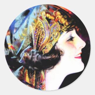 Martha Mansfield Classic Round Sticker