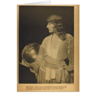 Martha Mansfield vintage 1918 portrait card