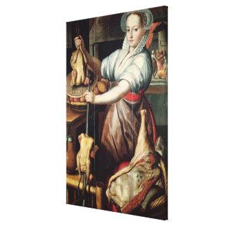 Martha Preparing Dinner for Jesus Canvas Print
