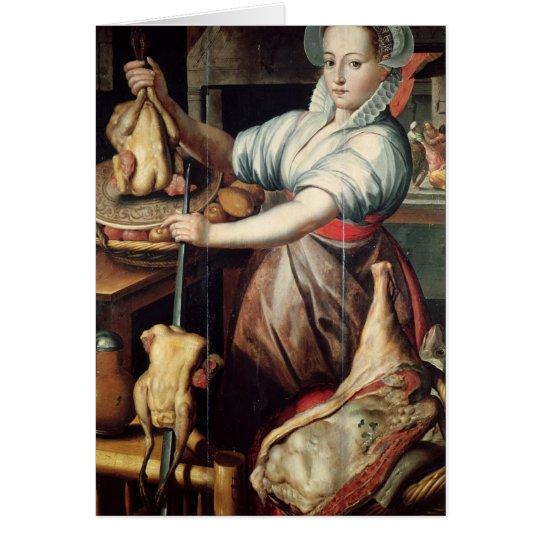 Martha Preparing Dinner for Jesus Card