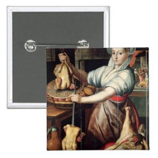 Martha Preparing Dinner for Jesus Pinback Button