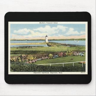 Martha s Vineyard c1925 del faro de Edgartown Alfombrillas De Raton