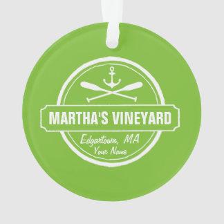 Martha's Vineyard MA custom town nautical anchor Ornament
