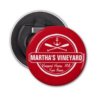 Martha's Vineyard, MA town, name, nautical anchor Bottle Opener