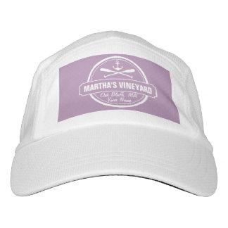 Martha's Vineyard, MA town, name, nautical anchor Headsweats Hat