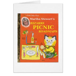 Martha Stewart''s Bizarre Picnic Roadmaps Greeting Card