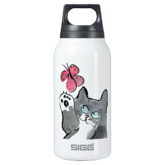 Martha Swings at Red Butterfly Insulated Water Bottle