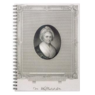 Martha Washington, engraved by James Barton Longac Notebook
