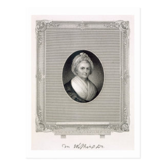 Martha Washington, engraved by James Barton Longac Postcard