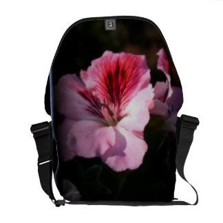 """""""Martha Washington Geranium"""" Courier Bag"""