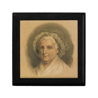 Martha Washington Portrait by Currier & Ives Trinket Box