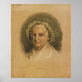 Martha Washington Portrait by Ives Poster