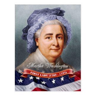 Martha Washington, primera señora de los E.E.U.U. Tarjeta Postal