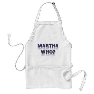 Martha Who? Adult Apron