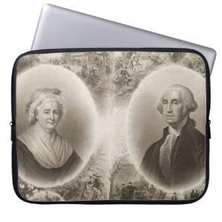 Martha y George Washington 1876 Manga Portátil