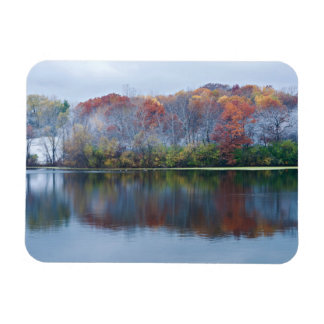 Marthaler Park Snowy Autumn Morning Magnet