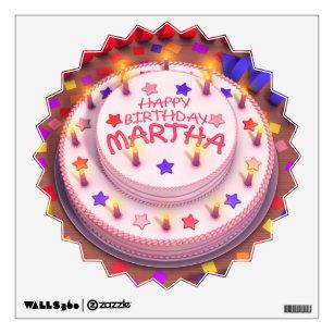 Marthas Birthday Cake Wall Sticker