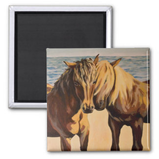 Martha's Ponies 2 Inch Square Magnet