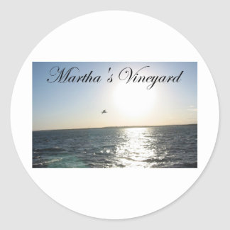 Martha's Vineyard 2 Classic Round Sticker