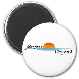 Marthas Vineyard 2 Inch Round Magnet