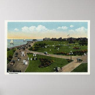 Martha's Vineyard, Aerial View of Ocean Park Posters