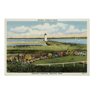 Martha's Vineyard c1925 del faro de Edgartown Posters