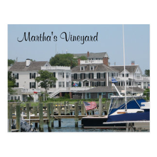 Martha's Vineyard Cape Cod, Edgartown MA Post Card